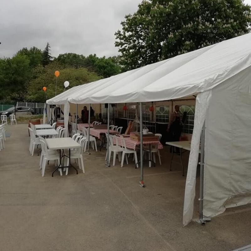 Location tente de réception 10m x 5m - Location de matériel évènementiel